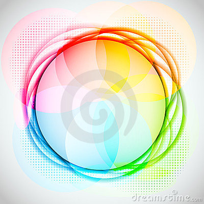 Abstract Colorful Circle Vector Background