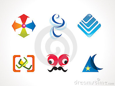 Abstract colorful design elements icons