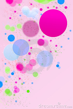 Abstract colorful dots