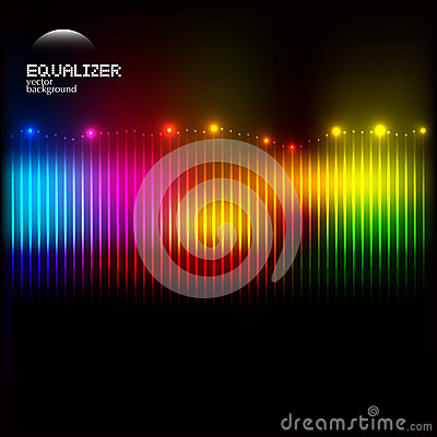 Abstract colorful equalizer