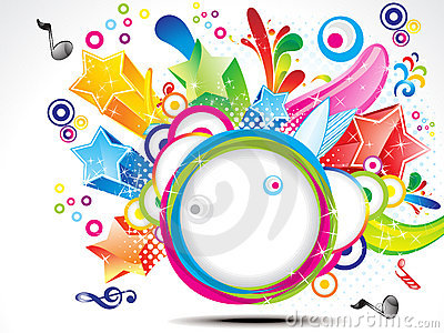 Abstract colorful exploade circle background