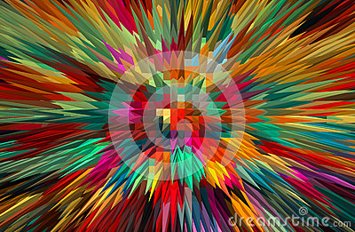 Abstract colorful extruded background. Stock Photo