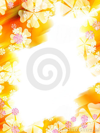 Free Abstract Colorful Flower Border Royalty Free Stock Photos - 12738268