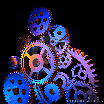 Free Abstract Colorful Gears Stock Photography - 10200842