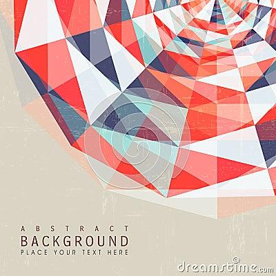 geometric graphic design poster