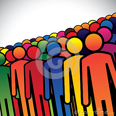 Free Abstract Colorful Group Of People Or Workers Or Employees Stock Image - 33982351