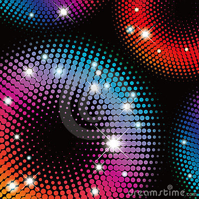 Abstract  colorful Halftone illustration pattern