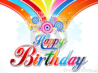 Abstract colorful happy birthday background