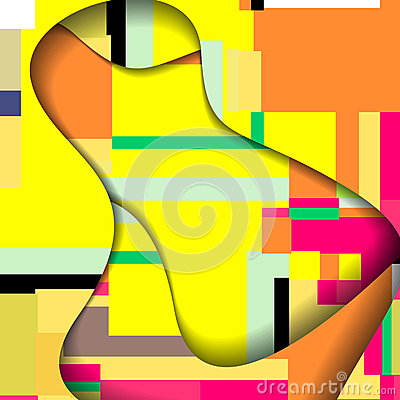 Abstract colorful illustration.