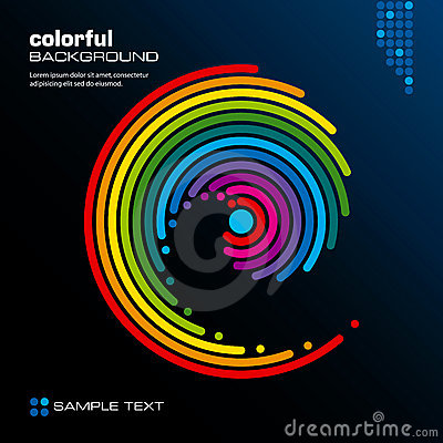 Abstract colorful layout. Vector.