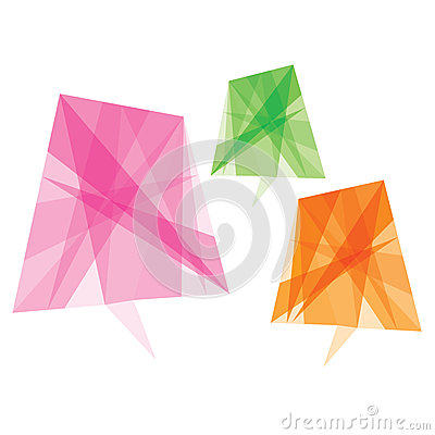 Abstract colorful message bubble stock
