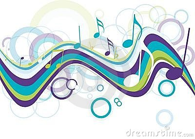 Abstract  colorful music note