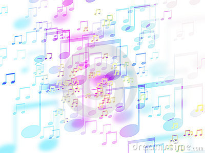Abstract colorful music sign background