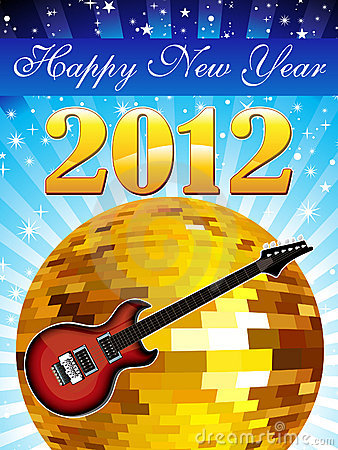 Abstract colorful musical new year background