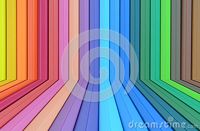 Abstract colorful pencils