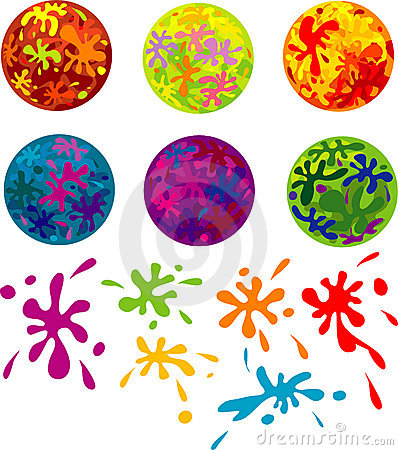 Abstract colorful round art patterns