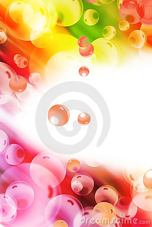 Abstract colorful sbubble shape background