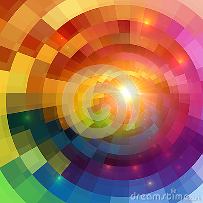 Free Abstract Colorful Shining Circle Tunnel Background Stock Image - 33430881