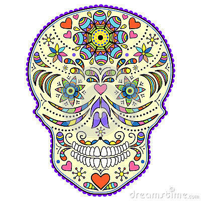 Free Abstract Colorful Skull Royalty Free Stock Images - 26463089