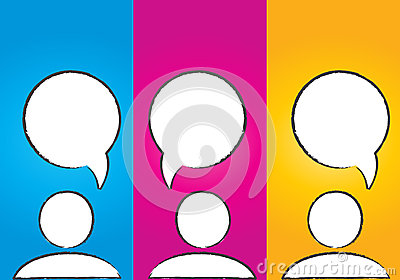 Abstract colorful social media dialog bubbles