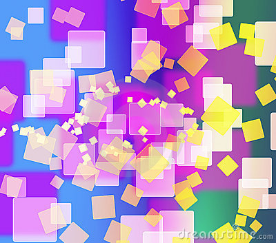Abstract colorful square shape background