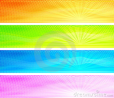 Abstract colorful sunrise background banners
