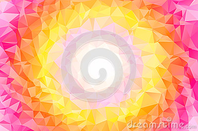Abstract colorful swirl rainbow polygon around white frame Vector Illustration