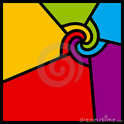 Free Abstract Colorful Swirl. Vector. Royalty Free Stock Photo - 8141135