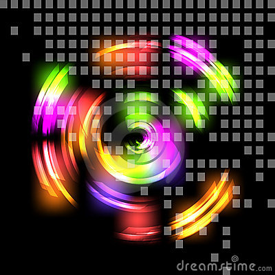 Abstract colorful techno background.