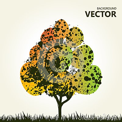 Abstract colorful tree background