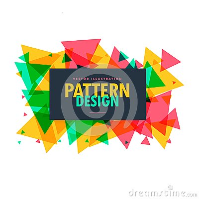 Free Abstract Colorful Triangle Shapes Frame  Background Stock Photo - 101509510