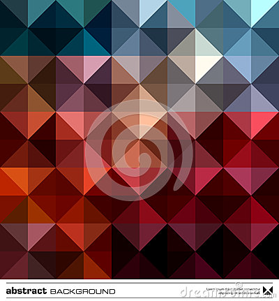 Free Abstract Colorful Triangles Background. Vector. Stock Photography - 27534112