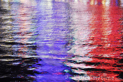 Abstract colorful water reflection