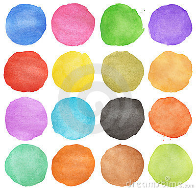 Free Abstract Colorful Watercolor Circle Royalty Free Stock Photo - 23637235