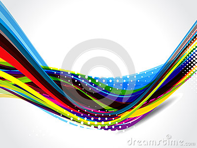 Abstract Colorful Wave Ground