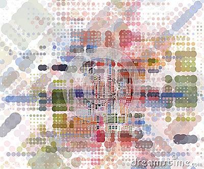 Abstract colorfull retro concept idea