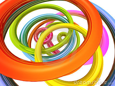 Abstract colourful torus background
