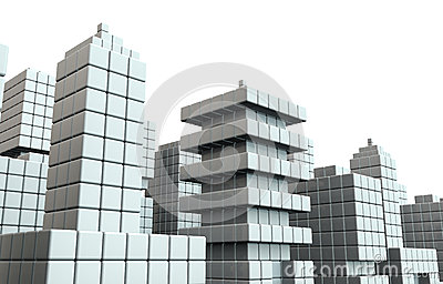 Abstract commercial building background