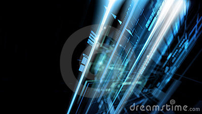 Abstract complex technology concept