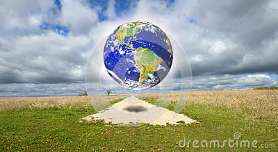 Abstract Concept for Earth, Nature, Religion