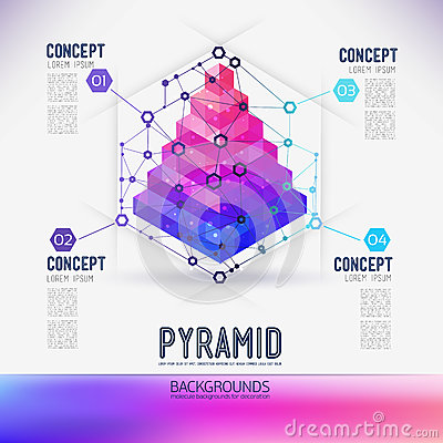 Free Abstract Concept Geometric Pyramid Royalty Free Stock Image - 52345266