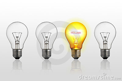 Abstract concept of lightbulbs