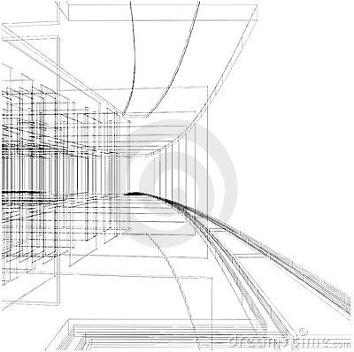 Free Abstract Construction Of The Line Vector 05 Stock Photos - 16644553