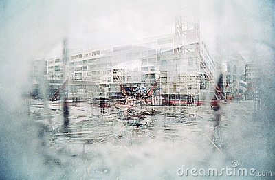 Abstract construction site Stock Photo