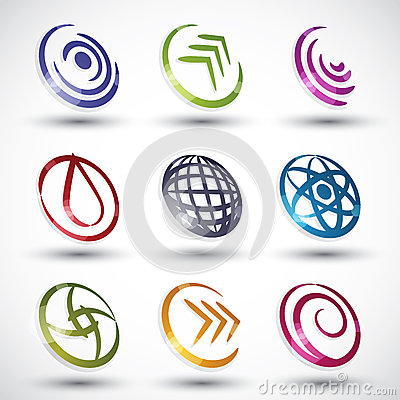 Abstract contemporary style icons 3.