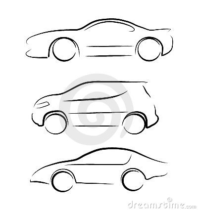Abstract contour of car
