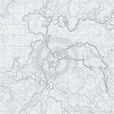 Free Abstract Contour Map With Different Relief. Topographic Vector Illustration For Navigation Royalty Free Stock Photo - 95824645