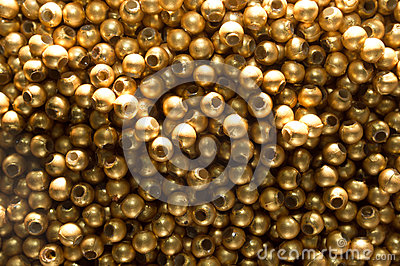 Abstract copper Bead Background