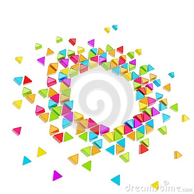 Abstract copyspace hexagon frame background