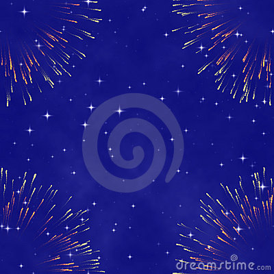 Abstract cosmic background with firework